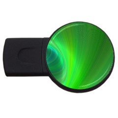 Green Background Abstract Color Usb Flash Drive Round (4 Gb) by Nexatart