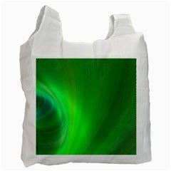 Green Background Abstract Color Recycle Bag (one Side) by Nexatart