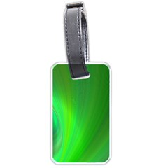 Green Background Abstract Color Luggage Tags (one Side)  by Nexatart