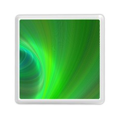 Green Background Abstract Color Memory Card Reader (square)  by Nexatart