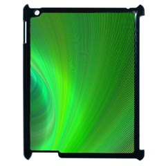 Green Background Abstract Color Apple Ipad 2 Case (black)