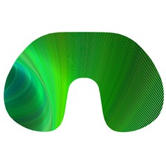 Green Background Abstract Color Travel Neck Pillows