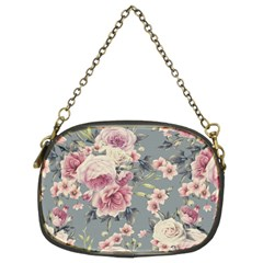 Pink Flower Seamless Design Floral Chain Purses (two Sides)  by Nexatart