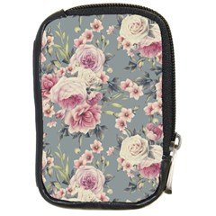 Pink Flower Seamless Design Floral Compact Camera Cases