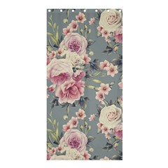 Pink Flower Seamless Design Floral Shower Curtain 36  X 72  (stall)