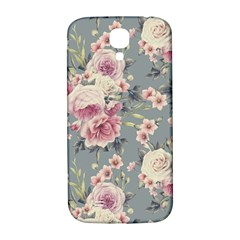 Pink Flower Seamless Design Floral Samsung Galaxy S4 I9500/i9505  Hardshell Back Case by Nexatart