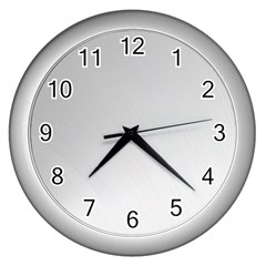 White Background Abstract Light Wall Clocks (silver)  by Nexatart