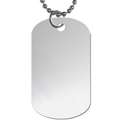 White Background Abstract Light Dog Tag (one Side)
