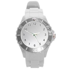White Background Abstract Light Round Plastic Sport Watch (l)
