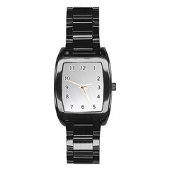White Background Abstract Light Stainless Steel Barrel Watch