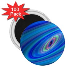 Oval Ellipse Fractal Galaxy 2 25  Magnets (100 Pack)