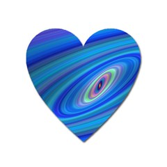 Oval Ellipse Fractal Galaxy Heart Magnet by Nexatart