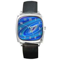 Oval Ellipse Fractal Galaxy Square Metal Watch