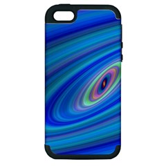Oval Ellipse Fractal Galaxy Apple Iphone 5 Hardshell Case (pc+silicone) by Nexatart