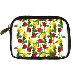 Rose Pattern Roses Background Image Digital Camera Cases by Nexatart