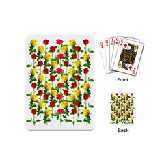 Rose Pattern Roses Background Image Playing Cards (mini)