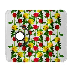 Rose Pattern Roses Background Image Galaxy S3 (flip/folio) by Nexatart