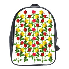Rose Pattern Roses Background Image School Bag (xl) by Nexatart