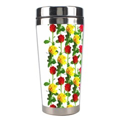 Rose Pattern Roses Background Image Stainless Steel Travel Tumblers