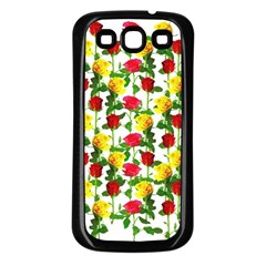 Rose Pattern Roses Background Image Samsung Galaxy S3 Back Case (black)