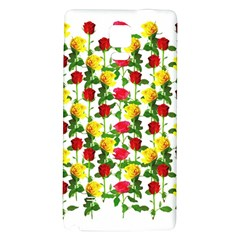 Rose Pattern Roses Background Image Galaxy Note 4 Back Case by Nexatart