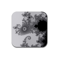 Apple Males Mandelbrot Abstract Rubber Coaster (square)  by Nexatart