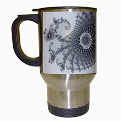 Apple Males Mandelbrot Abstract Travel Mugs (white) by Nexatart