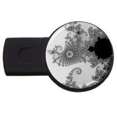 Apple Males Mandelbrot Abstract Usb Flash Drive Round (4 Gb) by Nexatart
