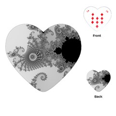 Apple Males Mandelbrot Abstract Playing Cards (heart)
