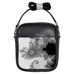 Apple Males Mandelbrot Abstract Girls Sling Bags by Nexatart