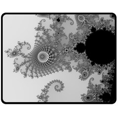 Apple Males Mandelbrot Abstract Double Sided Fleece Blanket (medium)  by Nexatart