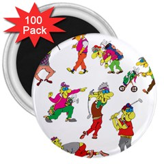 Golfers Athletes 3  Magnets (100 Pack)
