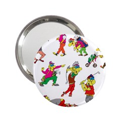 Golfers Athletes 2 25  Handbag Mirrors by Nexatart