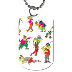 Golfers Athletes Dog Tag (two Sides) by Nexatart