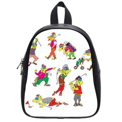 Golfers Athletes School Bag (small) by Nexatart