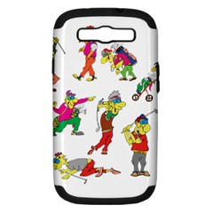 Golfers Athletes Samsung Galaxy S Iii Hardshell Case (pc+silicone) by Nexatart