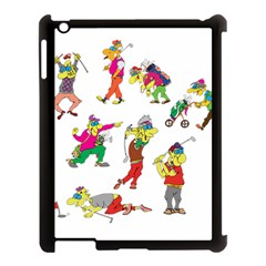 Golfers Athletes Apple Ipad 3/4 Case (black) by Nexatart
