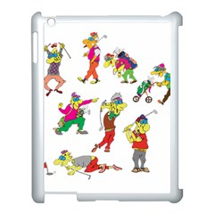 Golfers Athletes Apple Ipad 3/4 Case (white) by Nexatart