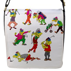 Golfers Athletes Flap Messenger Bag (s) by Nexatart