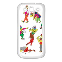Golfers Athletes Samsung Galaxy S3 Back Case (white) by Nexatart