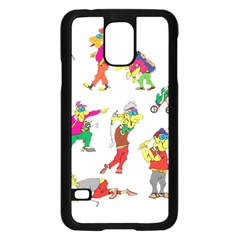 Golfers Athletes Samsung Galaxy S5 Case (black) by Nexatart