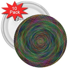 Spiral Spin Background Artwork 3  Buttons (10 Pack)  by Nexatart