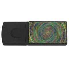 Spiral Spin Background Artwork Rectangular Usb Flash Drive by Nexatart
