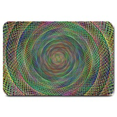 Spiral Spin Background Artwork Large Doormat  by Nexatart