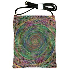 Spiral Spin Background Artwork Shoulder Sling Bags by Nexatart