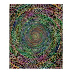 Spiral Spin Background Artwork Shower Curtain 60  X 72  (medium)  by Nexatart