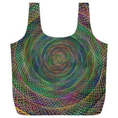Spiral Spin Background Artwork Full Print Recycle Bags (l)  by Nexatart