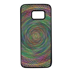 Spiral Spin Background Artwork Samsung Galaxy S7 Black Seamless Case by Nexatart