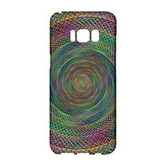 Spiral Spin Background Artwork Samsung Galaxy S8 Hardshell Case  by Nexatart