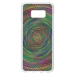 Spiral Spin Background Artwork Samsung Galaxy S8 Plus White Seamless Case by Nexatart
